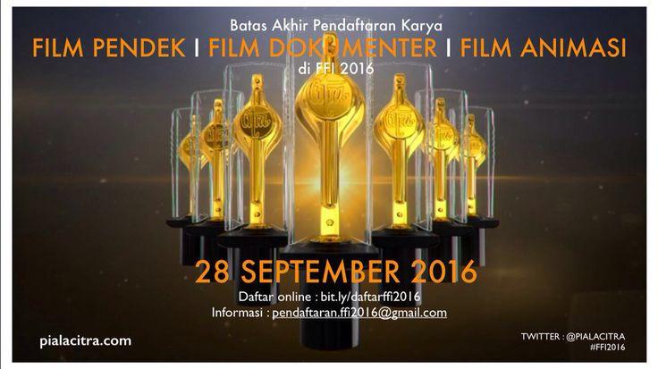 Halo sineas Indonesia dimana pun berada!   Kirimkan karya Film Pendek/ Dokumenter/ Animasi anda ke FESTIVAL FILM INDONESIA 2016 #FFI2016 !!  Klik : bit.ly/daftarffi2016  #DAFTARdiFFI2016    ⭐️🎬❤️