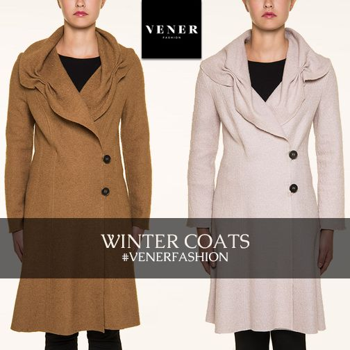Winter Coats! Camel, Ice or Black Long Coats by VENER