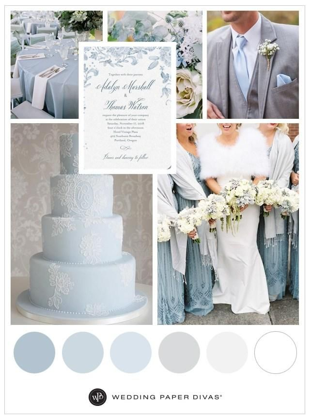 Crisp, clean and bright, create your own winter wonderland with a wedding theme in icy blues.