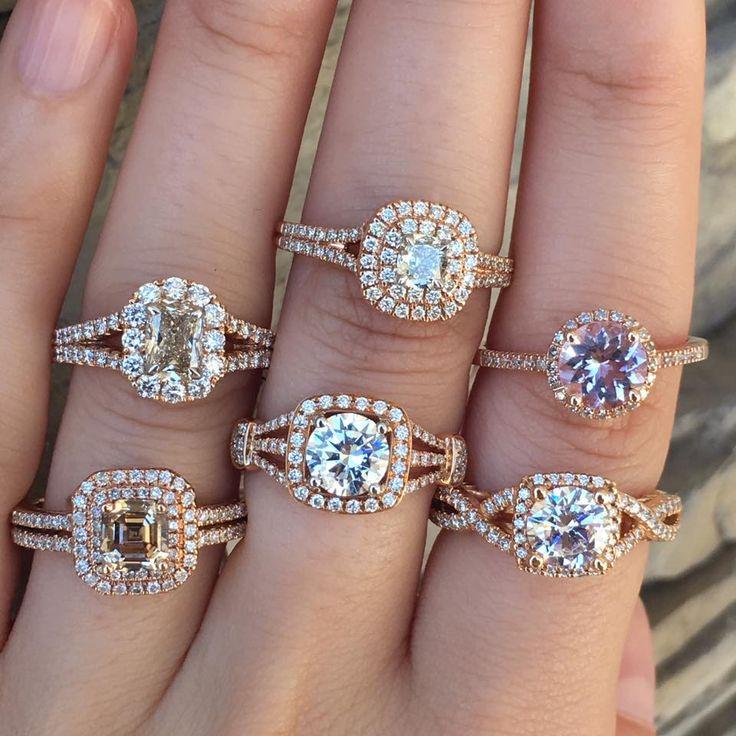 Gorgeous Henri Daussi engagement rings!