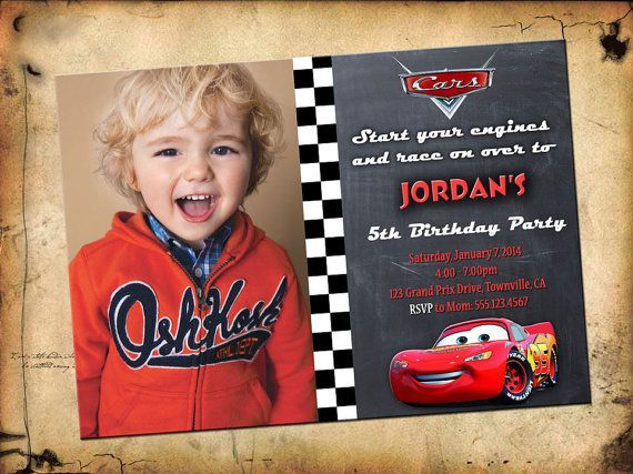Make your boy or girl, feel very special by ordering a custom made birthday party invitation. This Cars invite may come with a photo. There are quite a few Cars birthday invitations throughout my shop. Please feel free to browse them and pick your favorite! There's Lightning Mcqueen invitation printables too. We also have Cars printable thank you cards available for you to purchase. These Cars thank you cards will make the difference!