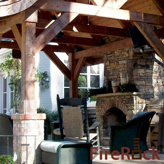 FireRock Outdoor Fireplace KitFireplaces Kits, House Ideas, Outdoor Living, Classic Outdoor, Backyards Ideas, Patios Ideas, Outdoor Fireplaces, Outdoor Spaces, Firerock Outdoor