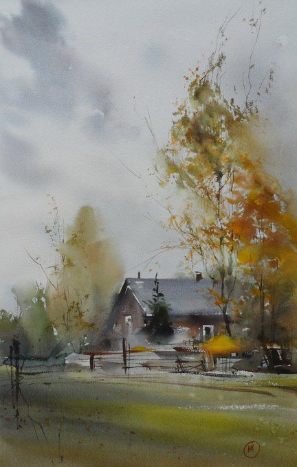 Beautiful watercolor by Ilya Ibryaev