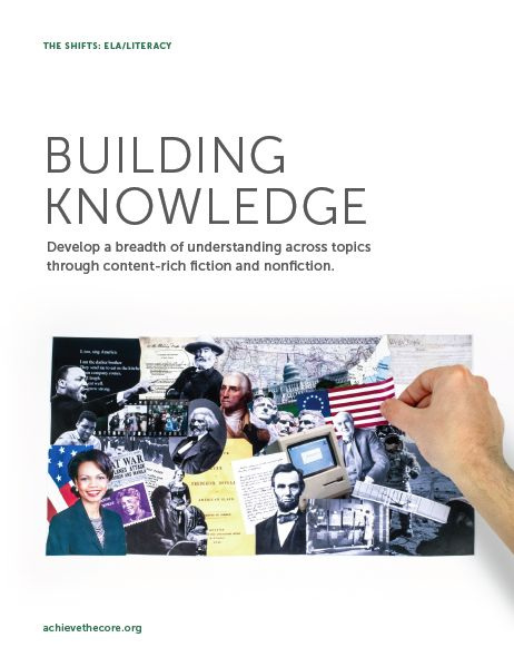 Building Knowledge: Develop a breadth of understanding across topics through content-rich fiction and nonfiction. #Shifts #CommonCore