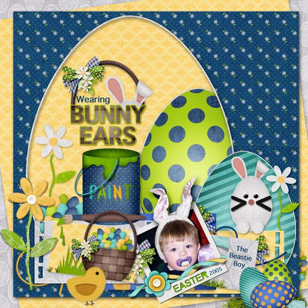 This is for Janet's April 2017 Free Template Challenge.  I used the Fabulous April 2017 Free Template by Janet (Thank You Janet!), and Beautiful Easter Day (not in store) by Meryl Bartho.