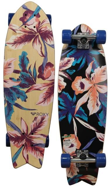 Roxy Hula Swallowtail Skateboard - Blue For Sale at Surfboards.com (4910727)