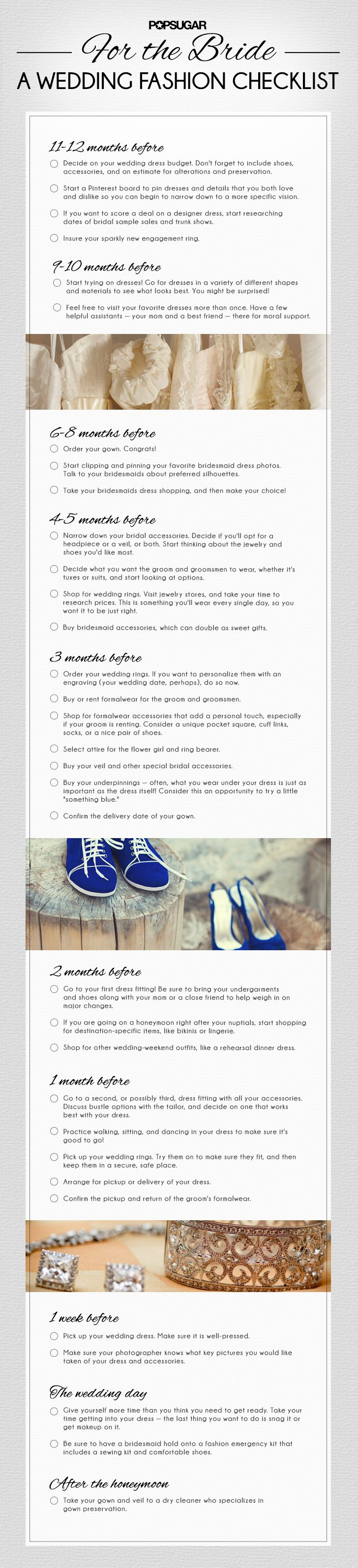The Ultimate Wedding Fashion Checklist
