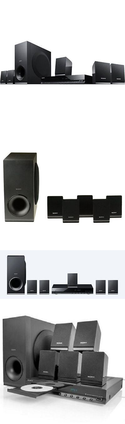 Home Theater Systems: Surround Sound System For Tv Best Sony Home Theater 5 Speakers Subwoofer 300Watt BUY IT NOW ONLY: $176.85