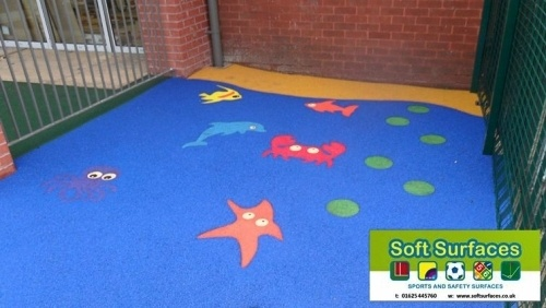 #safetysurface EPDM Rubberised Safety Surface Graphic Inserts Suppliers