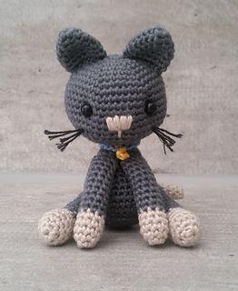 Ravelry, #crochet, free pattern, amigurumi, cat, stuffed toy, #haken, gratis patroon (Engels), kat, kitty, knuffel, speelgoed, #haakpatroon