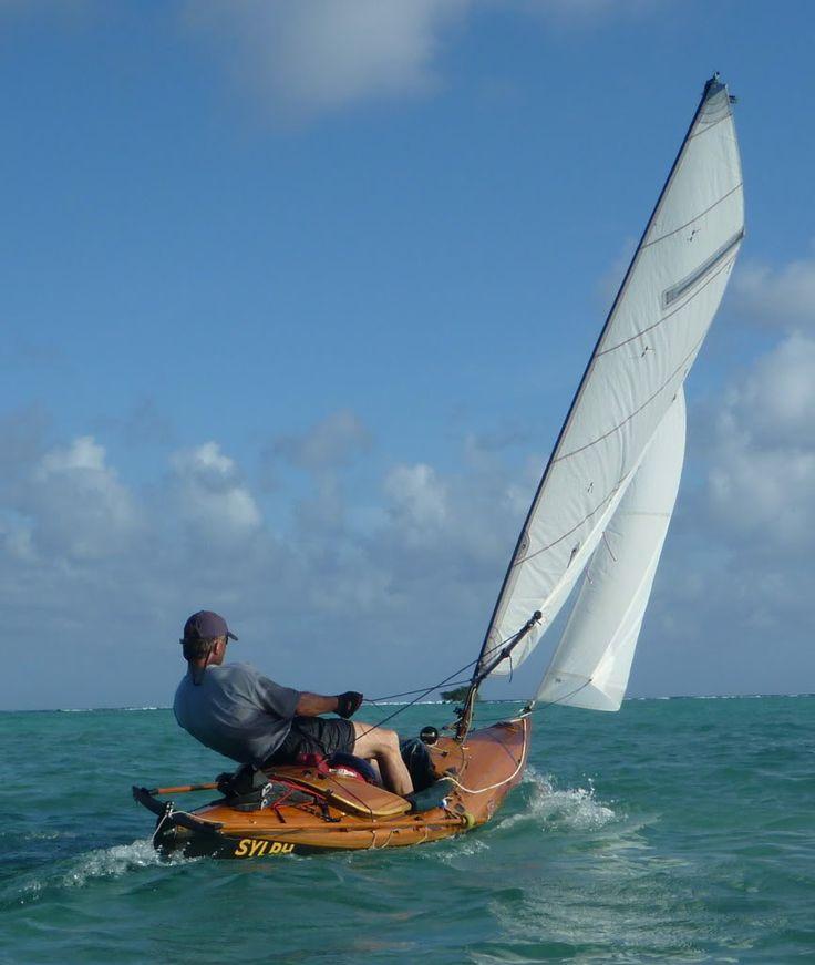 Sylph - Prof Howard Rice's sailing canoe