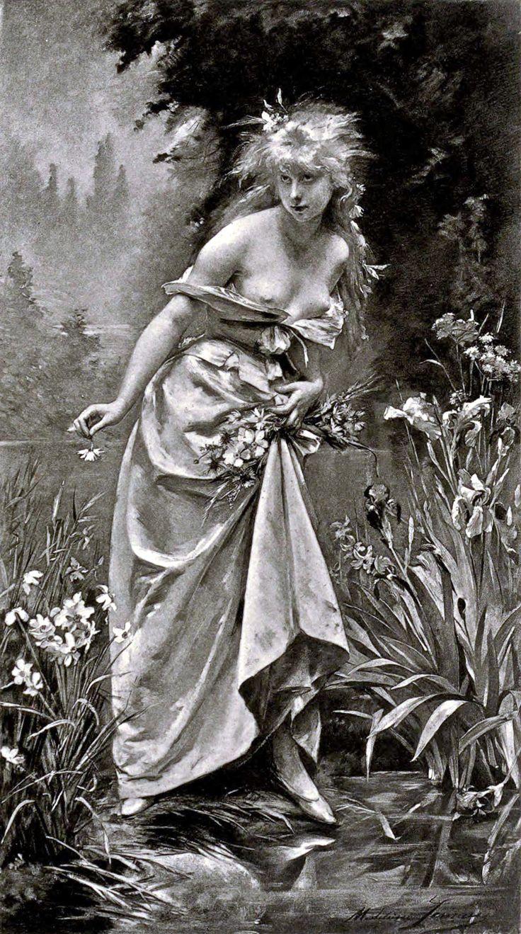 Lemaire, Madeleine, (1845-1928), Ophelia, 1880
