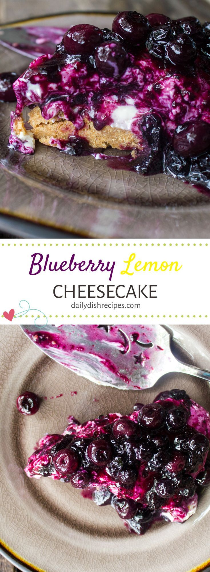 No-Bake Blueberry Lemon Cheesecake #SummerDessertW…