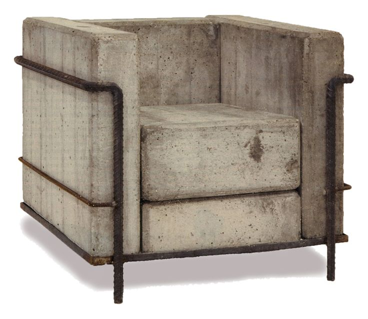 Technically not architecture, but a nice concept: Brutalist architectural style applied to Modernist furniture
