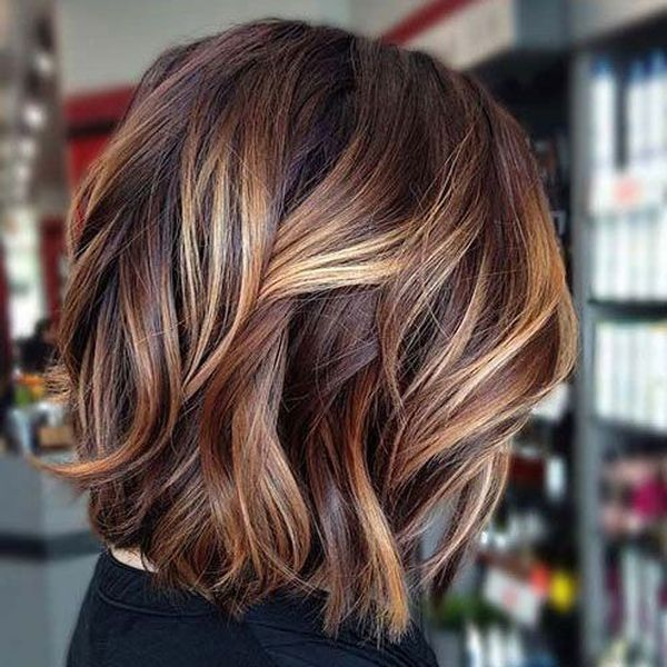 Braune haare balayage kurze Haare Balayage