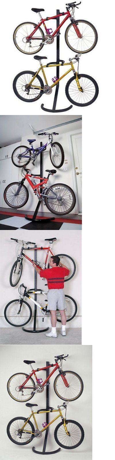 Bicycle Stands and Storage 158997: Bike Rack Stand Storage Bicycle Wall Mount 2 Hanger Organizer Parking Garage New -> BUY IT NOW ONLY: $89.99 on eBay!