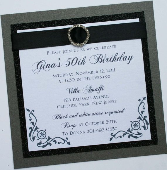 56 best blackwhite and bling images on pinterest wedding decor black and white and bling birthday party black and white elegance birthday invitation with rhinestone filmwisefo Gallery
