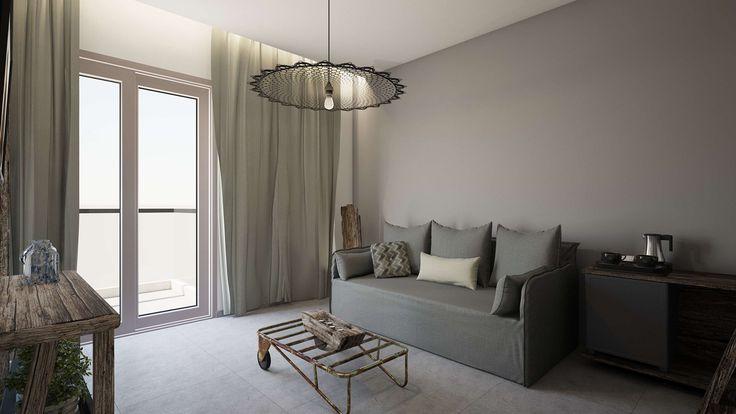 Nisos Suite - Living Room, Elakati Luxury Boutique Hotel, Rhodes , Greece