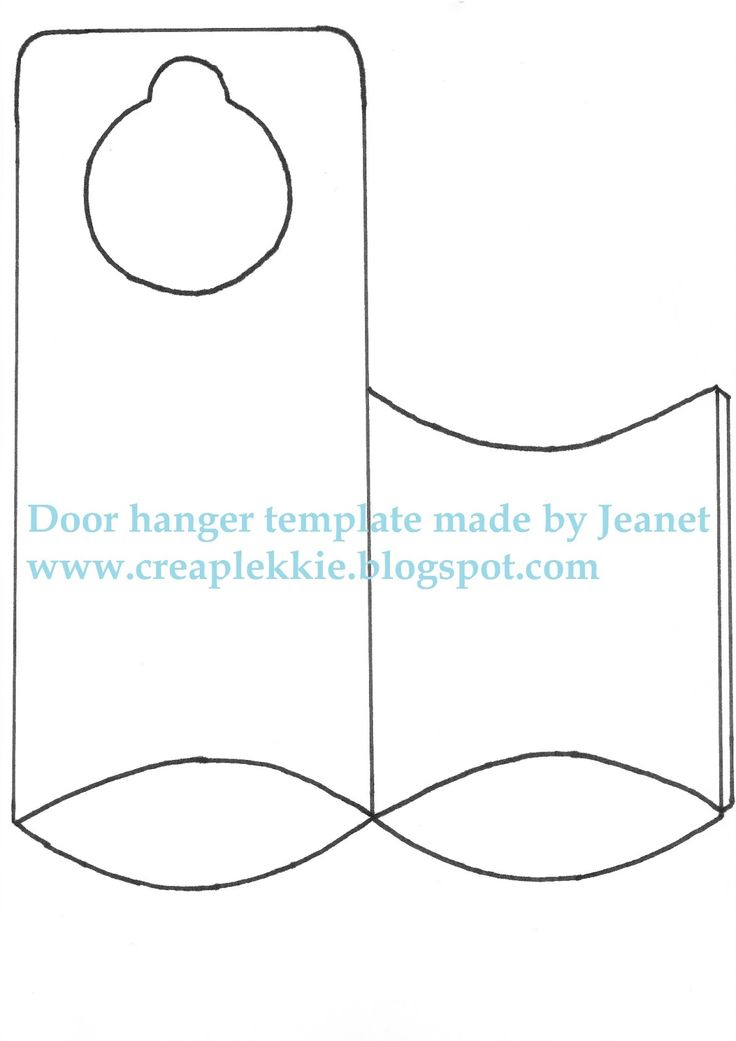 Door Hanger Template Cartoon Education Door Hanger Template