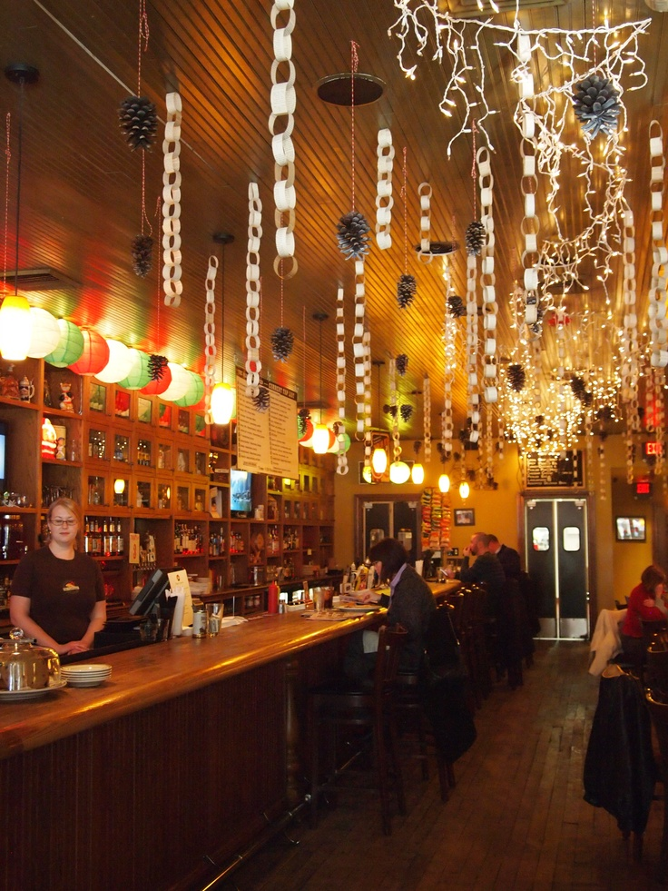 Check out the holiday decor at old fashioned
