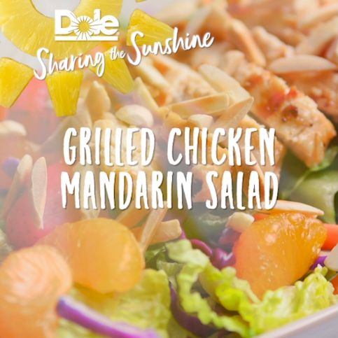 We'll take an easy to make recipe with a tropical twist and hint of summer, please. Check out the recipe below to taste test our Grilled Chicken Mandarin Salad at home!