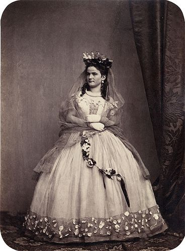 """""""Hanfstaengl, Franz (attributed to): Märchenball, (Attributed to). Portraits of Participants of the 'Märchenball' von """"Jung-München"""" in Costume. 1862"""" read more here: http://www.liveauctioneers.com/item/3767933"""