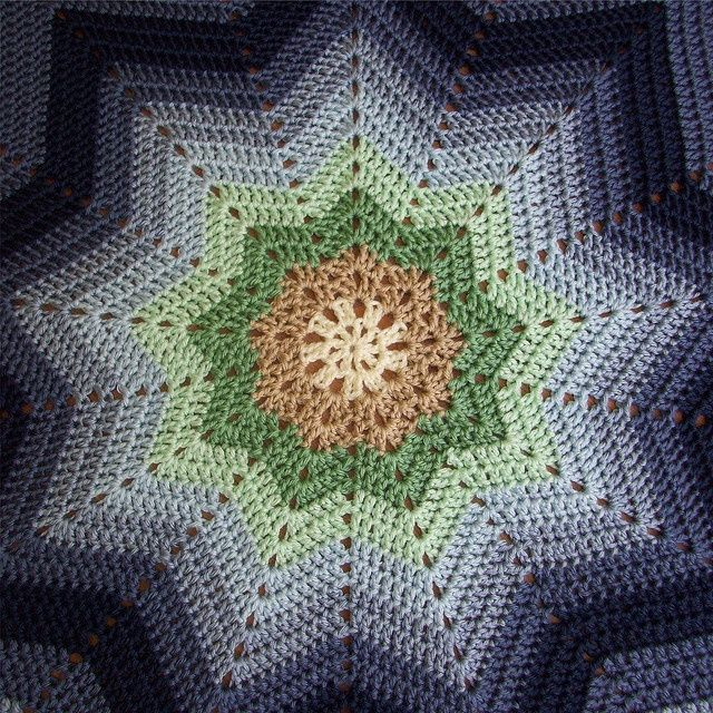 Crochet Pattern Round Ripple Afghan : 1000+ images about Afghans - Round Ripple 9 point ...