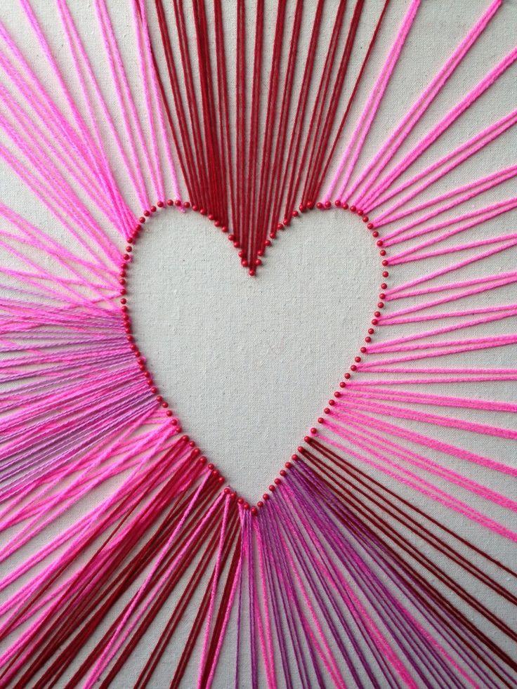 diy string heart 21 best string art images on pinterest string art 1970s and