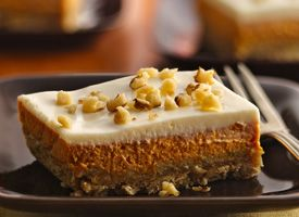 Pumpkin Cheesecake Squares Recipe - Tablespoon