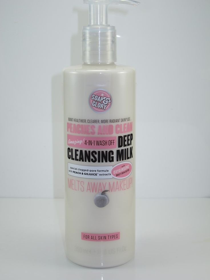 Soap & Glory Peaches And Clean Deep Cleansing Milk ($12)