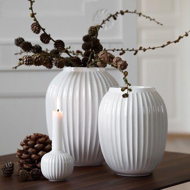 Kjøp Kähler - Hammershøi Vase Medium - White (15380) - Fri frakt