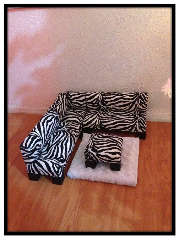 Zebra print sectional sofa furniture set with ottoman for Zebra sectional sofa