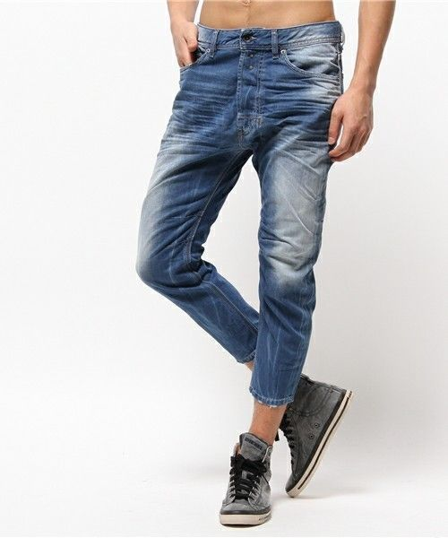 d56f25a7 NEW men DIESEL JEANS NARROT 0823S size W33 L32 genuine reg carrot leg  shorts 2018 summer fashion denim