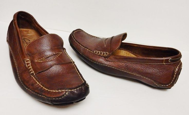 Clarks Men's Leather Shoes Driving Moccasins Loafers Slip On Brazil Brown 11.5 M #Clarks #DrivingMoccasins