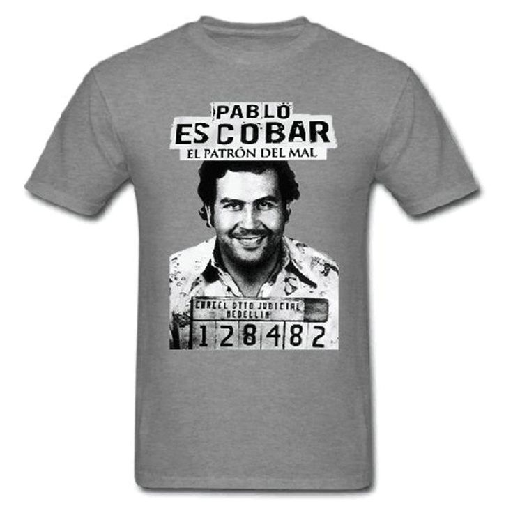 Gangster Pablo Escobar Colombian Drug Weed Mafia Scareface Luciano Money Capon O-Neck Casual T-Shirt