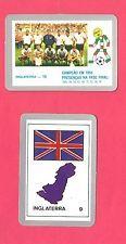 1990 Italy FIFA World Cup Football Cards of England Team & Flag; Italia