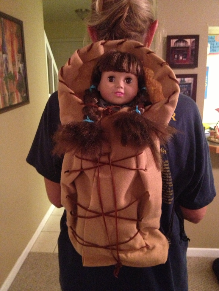 Homemade Indian Papoose Costume Accessory  Native -1315
