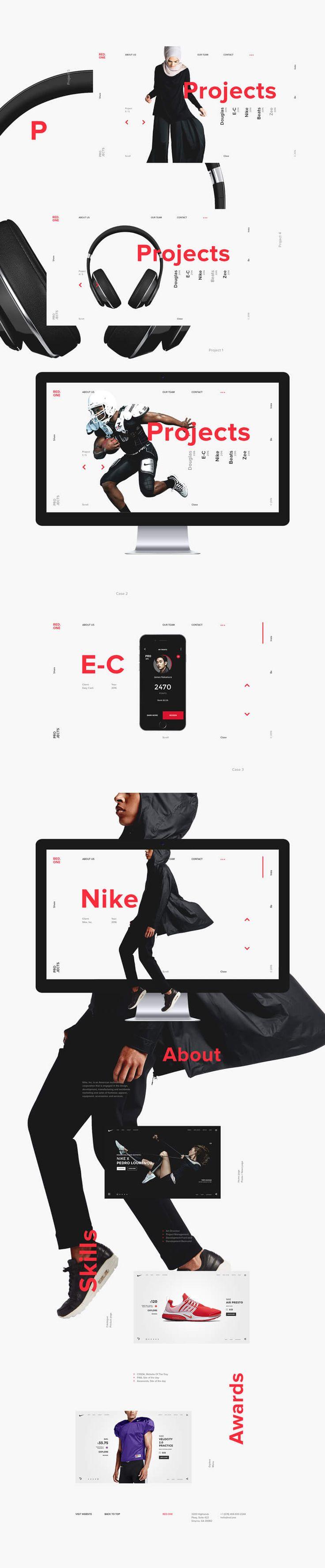 Red-One2 #ui #ux #userexperience #website #webdesign #design