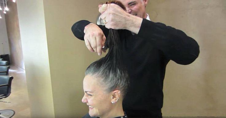 Mujer se cansa de esconder su pelo gris – un súper cambio de imagen la deja irreconocible #gadgets #gadget #mobilegadget #mobile #electronics #digital #onlinestore #shopping
