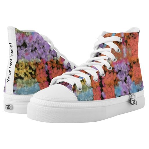 Paint shapes texture printed shoes