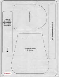 Resultado de imagen para moldes para carteras en foami
