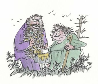 The Twits by Roald Dahl - The misadventures of two terrible old people who enjoy playing nasty tricks and are finally outwitted by a family of monkeys.