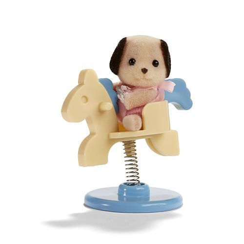 "Calico Critters Friends in Mini Carry Cases - Dog and Spring Horse - International Playthings - Toys ""R"" Us"