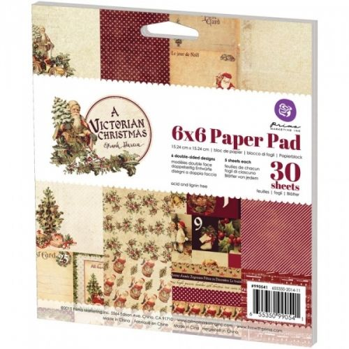 PRIMA - A VICTORIAN CHRISTMAS 990541 - PAPER PAD 6x6Papirblokk fra PRIMA MARKETING. Inneholder 36 ark. PRIMA MARKETING-Paper Pad.  A perfect addition to your scrapbook projects and more! Acid and lignin free.