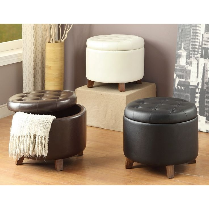 The 25 best Leather ottoman with storage ideas on Pinterest