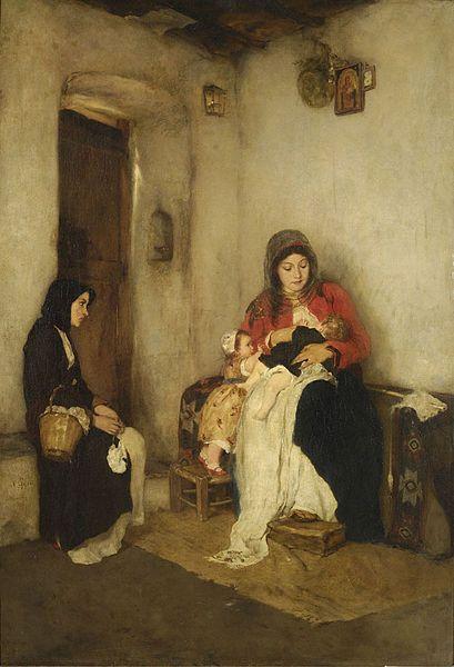 Gyzis Nikolaos, The Step Mother, #Greece, #painting, #art, #communication