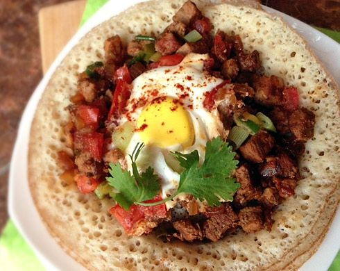 Lahooh with Suqaar and Eggs-My Somali Food