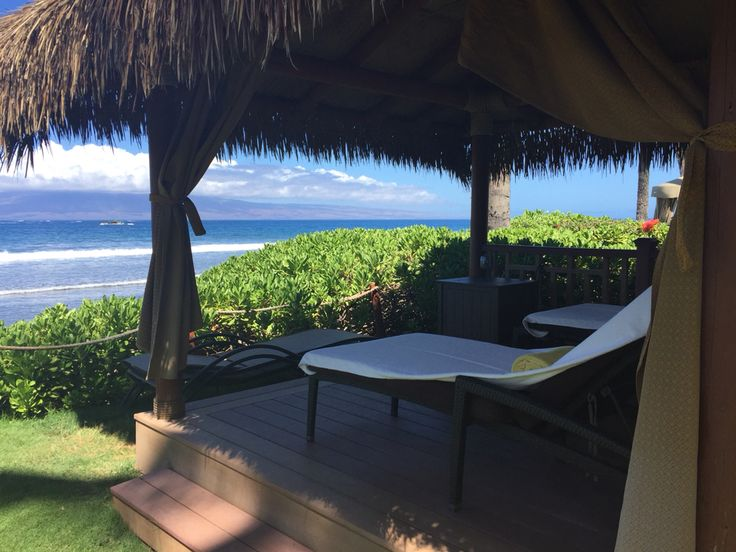 Most relaxing spot on earth. A  hale in Maui. ~ Hyatt Regency 2015