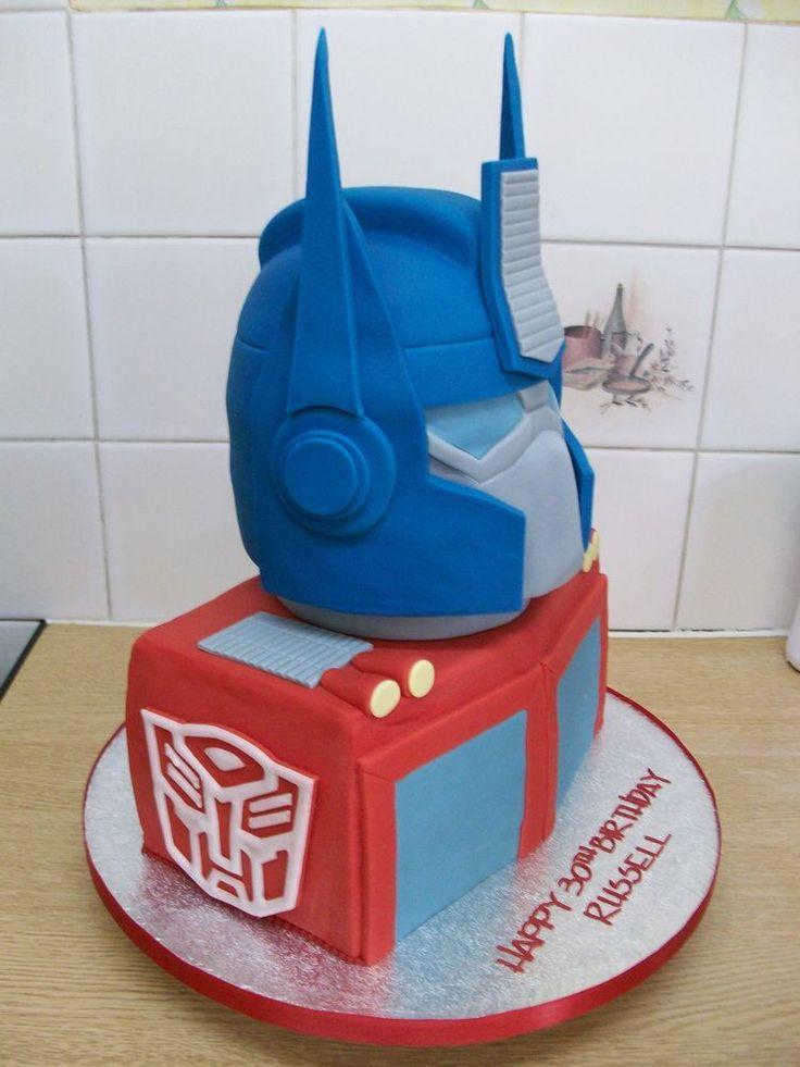 69 Best Transformers Cakes Images On Pinterest Transformer Cake