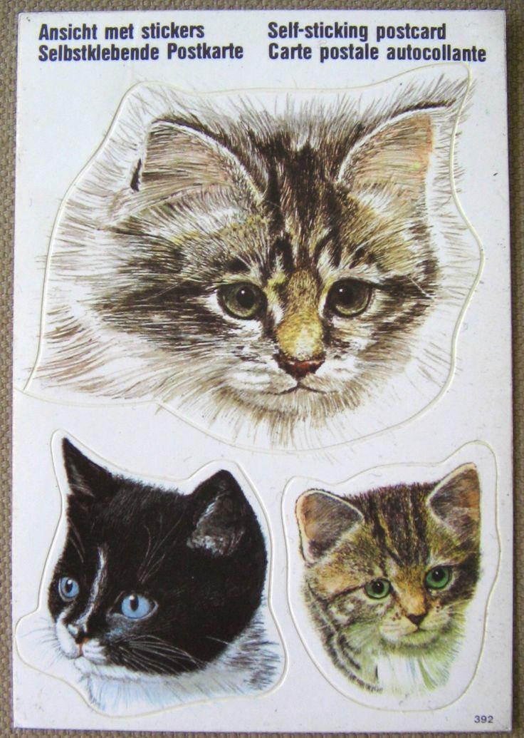 Een persoonlijke favoriet uit mijn Etsy shop https://www.etsy.com/nl/listing/209005917/vintage-schattige-katten-sticker